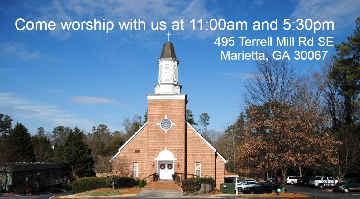 Christ OPC Atlanta - Come worship with us at 11am and 5:30pm, 495 Terrell Mill Rd SE, Marietta GA 30067